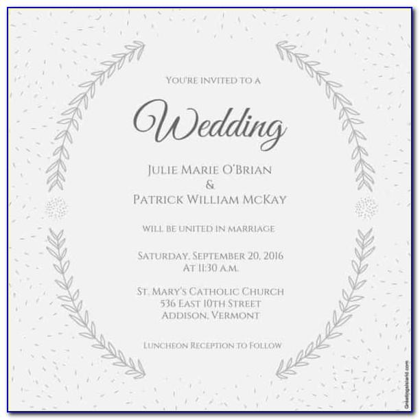 Wedding Invitation Template Printable Free