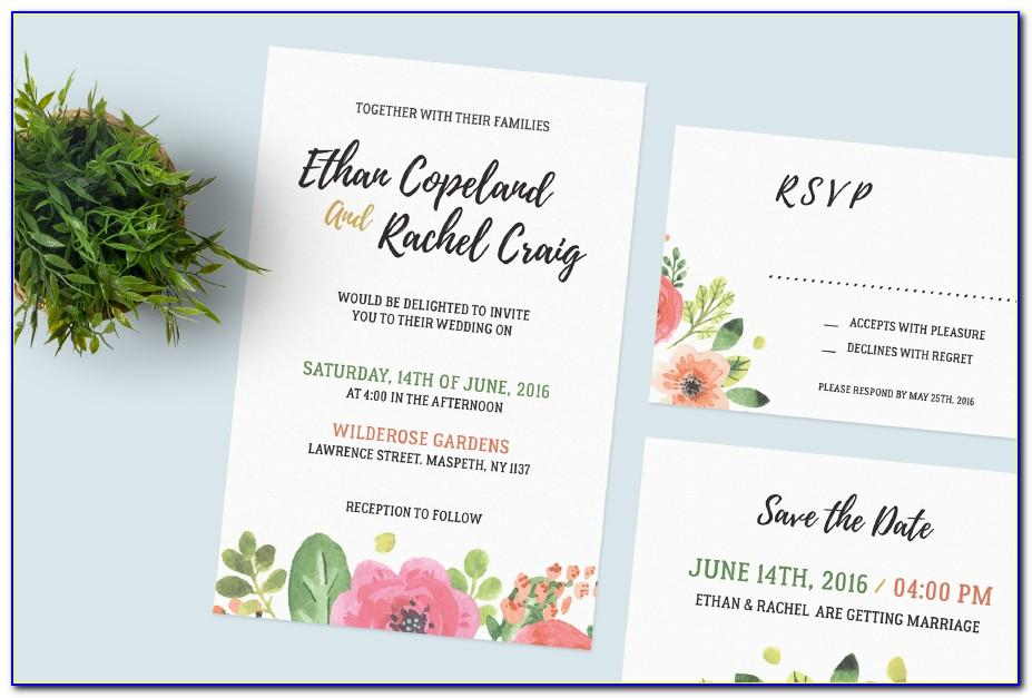 Wedding Invitation Template Psd Download