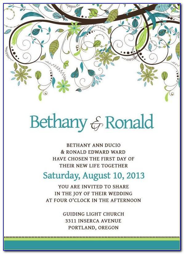 Wedding Invitation Template Psd Free