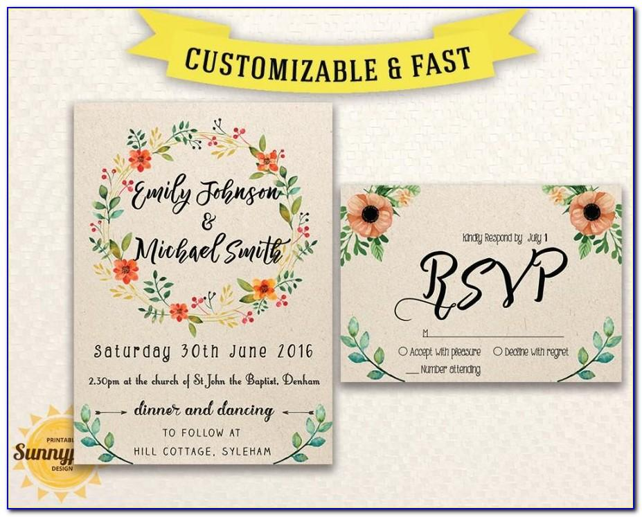 Wedding Invitation Templates Free Download Psd