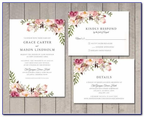 Wedding Invitation Templates Free For Word