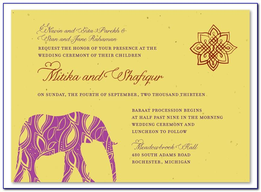 Wedding Invitation Templates India Online