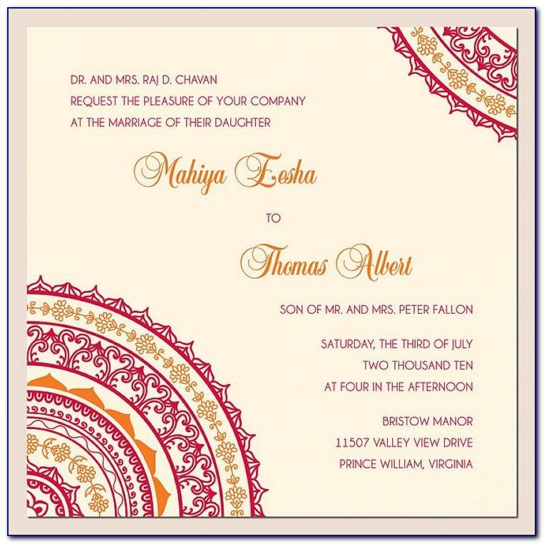 Wedding Invitation Templates Indian Free