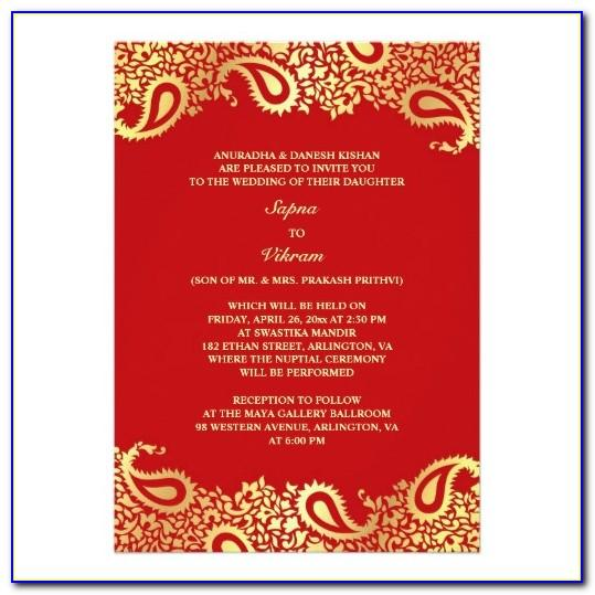 Wedding Invitation Templates Indian Style