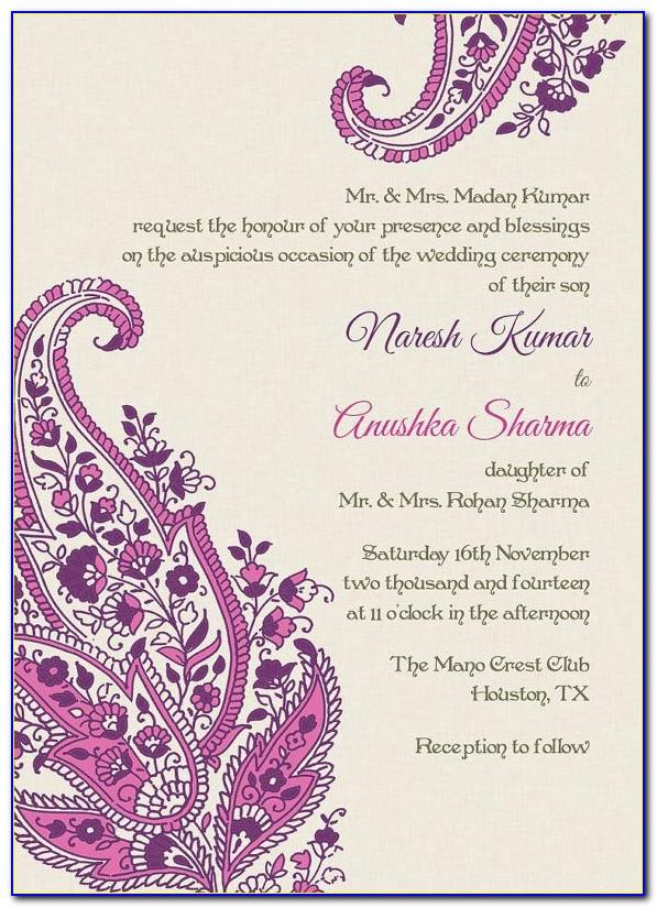 Wedding Invitation Templates Indian