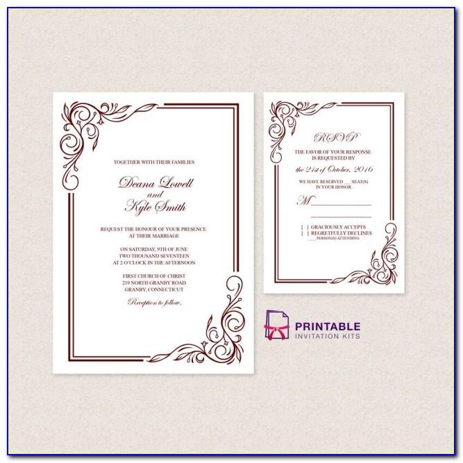 Wedding Invitation Templates Online Edit