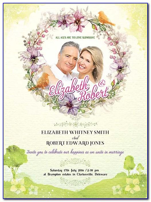 Wedding Invitation Templates Psd Free