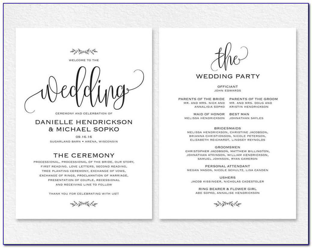 Wedding Invitation Templates Word Document Free