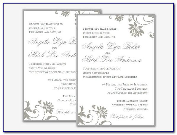 Wedding Invitation Templates Word Free Download