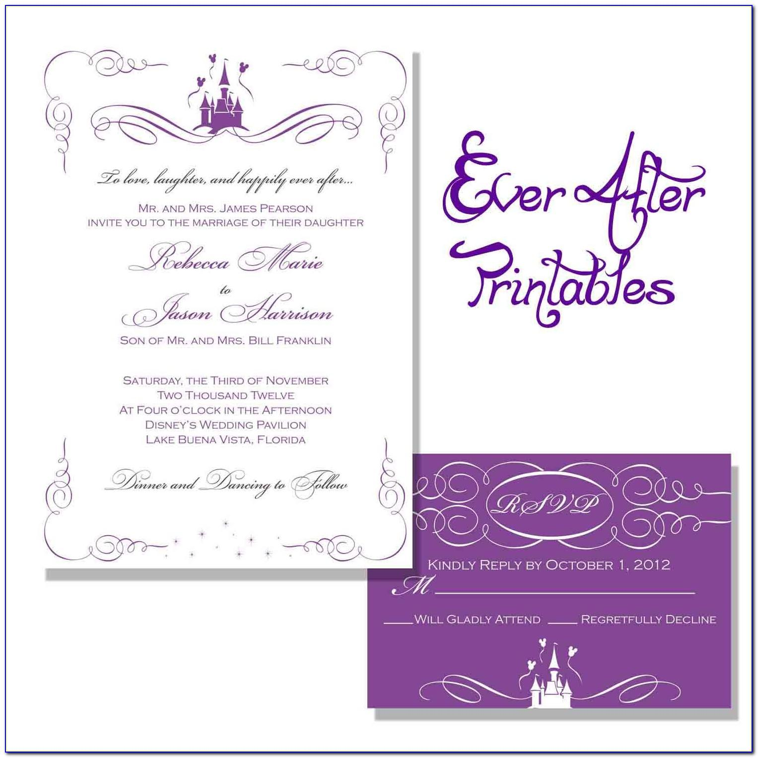 Wedding Invitation Templates Wording