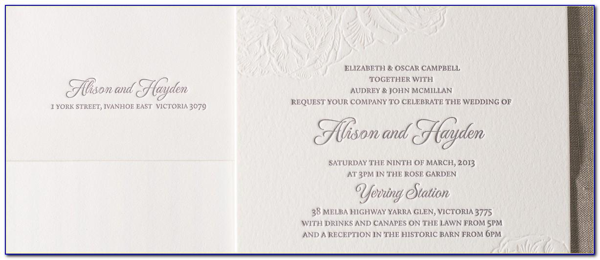Wedding Invitation Wording Samples In English
