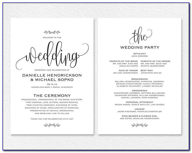 Wedding Invitation Wording Templates Free