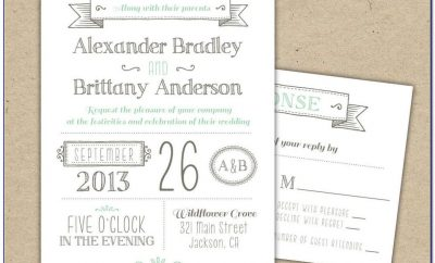 Wedding Invitation Wording Templates Informal