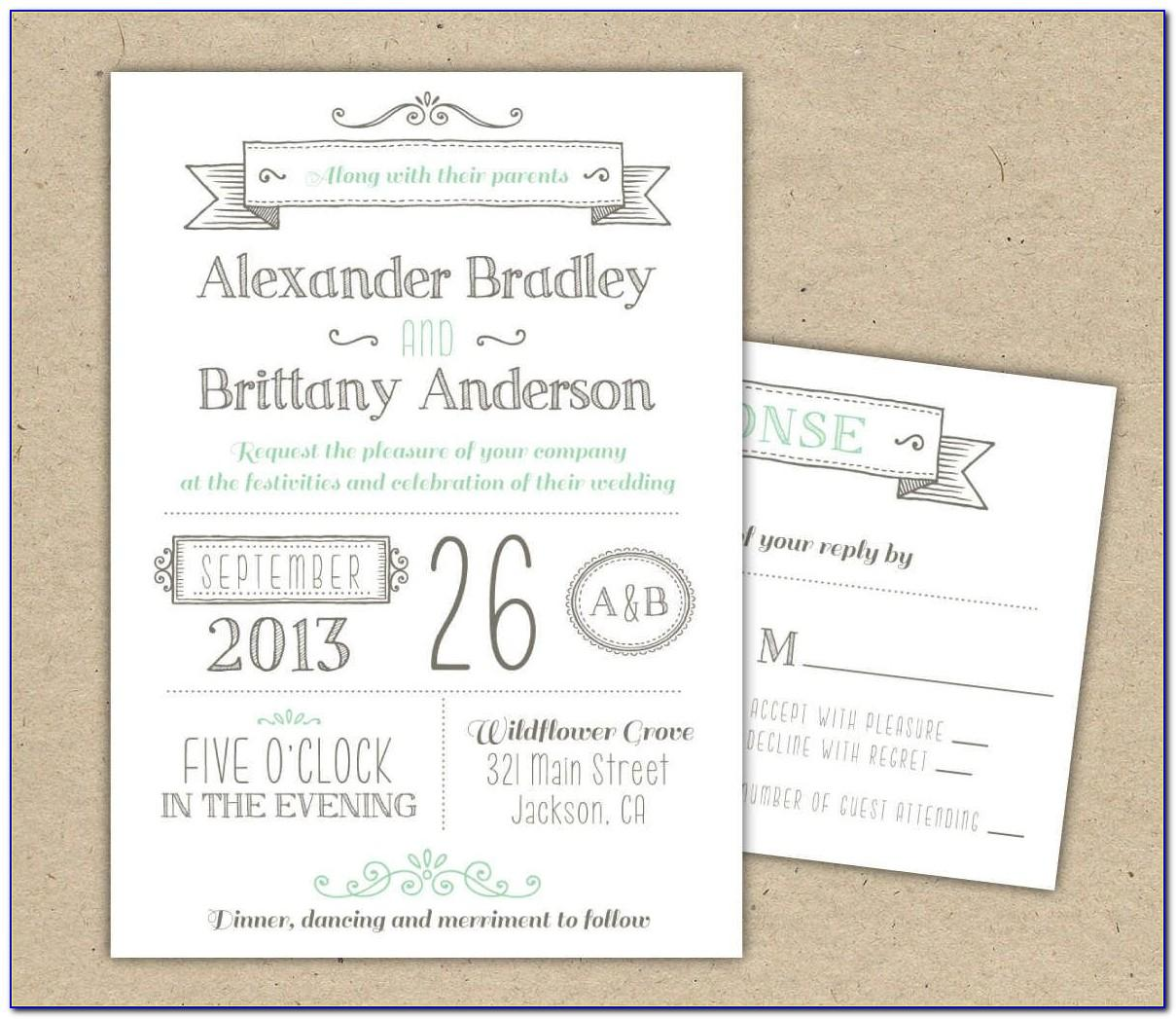 Wedding Invitation Wording Templates Informal