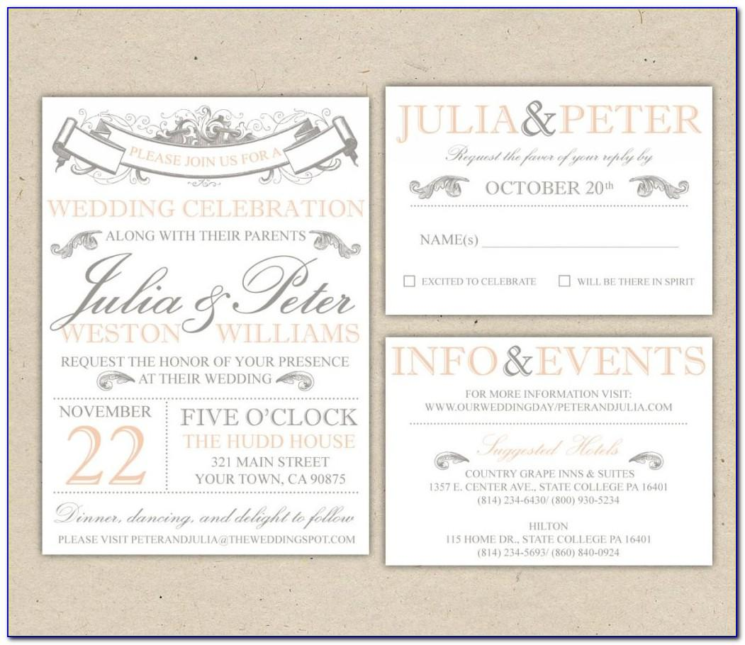 Wedding Invitation Wording Templates Philippines