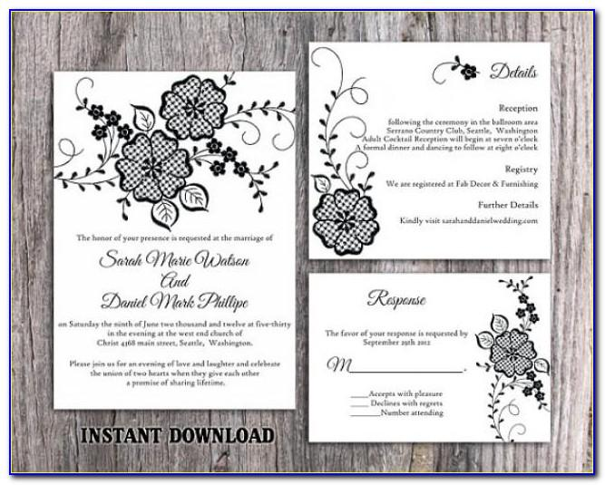 Wedding Invitations Diy Templates