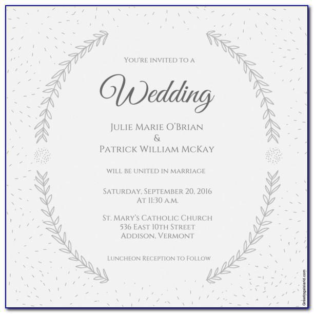 Wedding Invitations Photoshop Templates Free