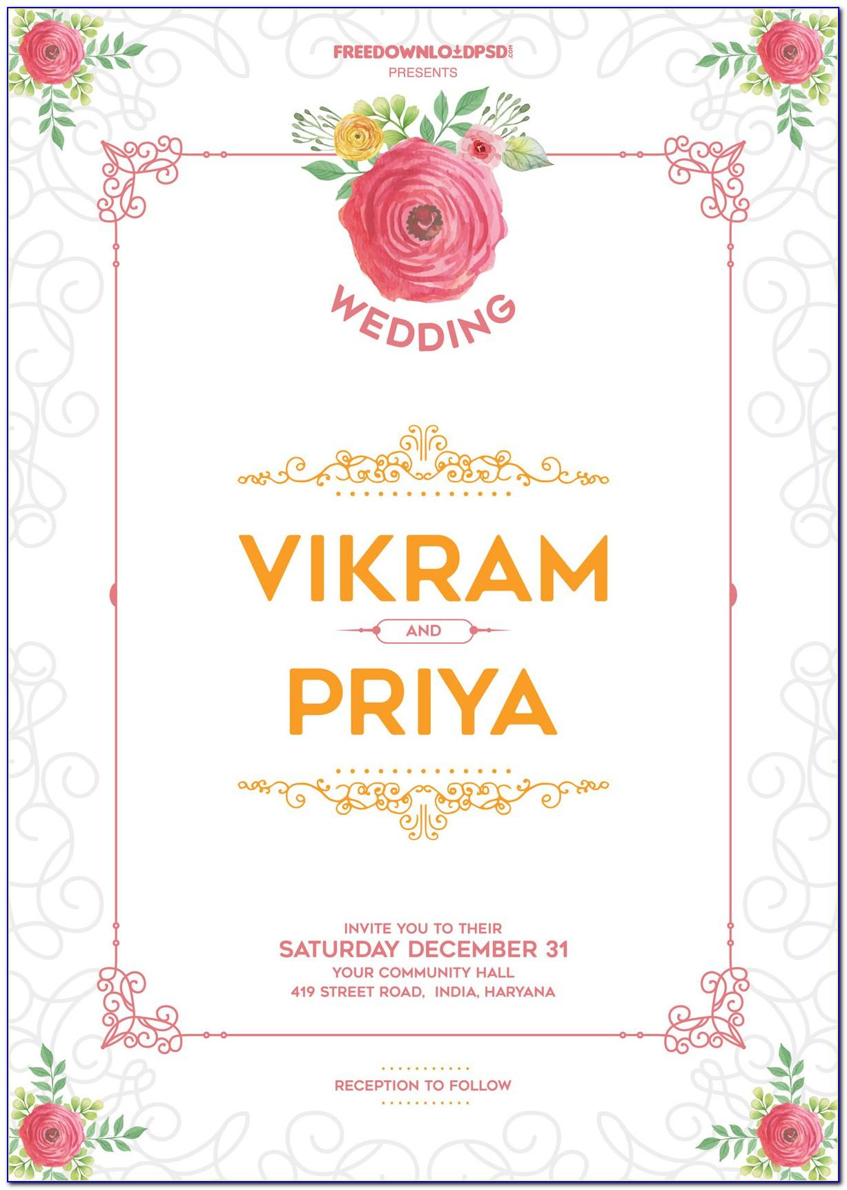 Wedding Invitations Templates Free Psd