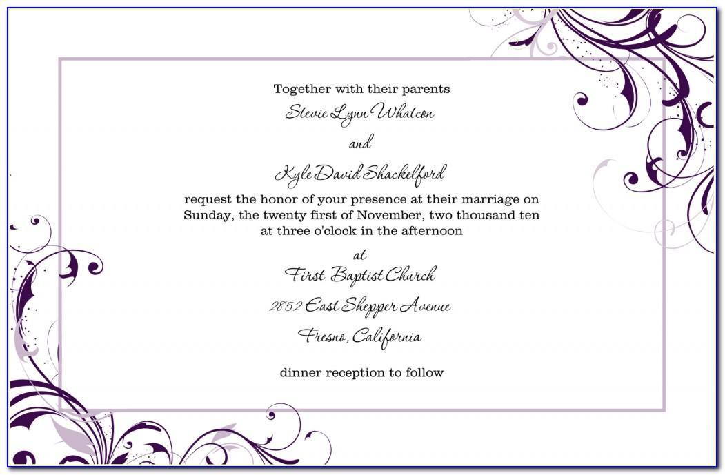 Wedding Invitations Templates Word Free