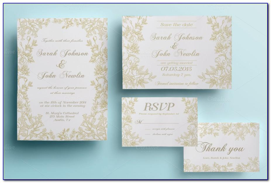 Wedding Invite Template Photoshop