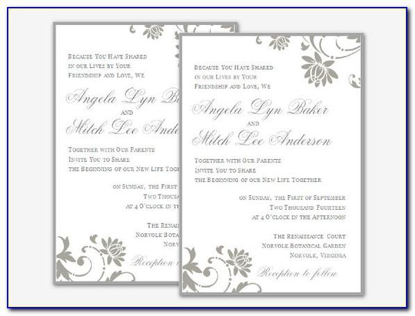 Wedding Invite Templates Photoshop