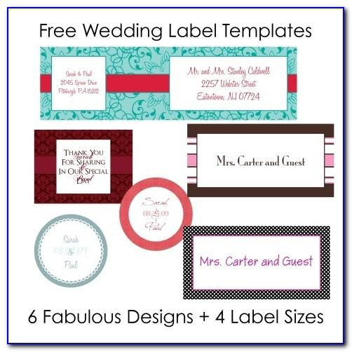 Wedding Mailing Labels Templates