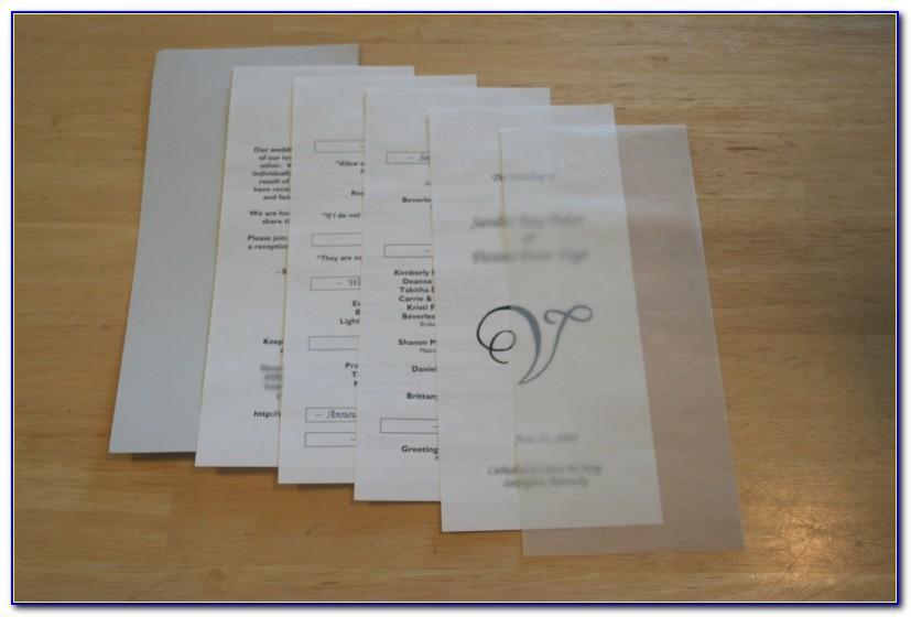 Wedding Mass Booklet Sample