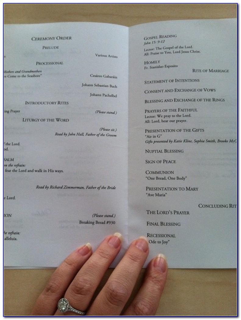 Wedding Mass Booklet Template Catholic