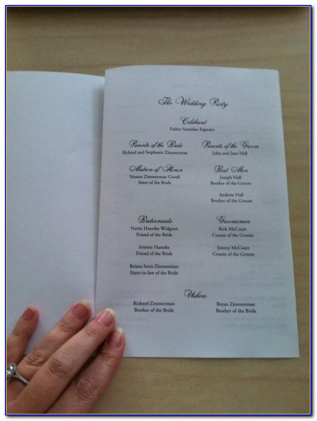 Wedding Menu Template Microsoft Word Free