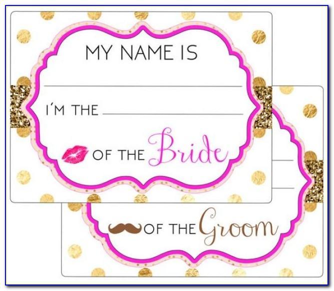 Wedding Name Tags Templates Free