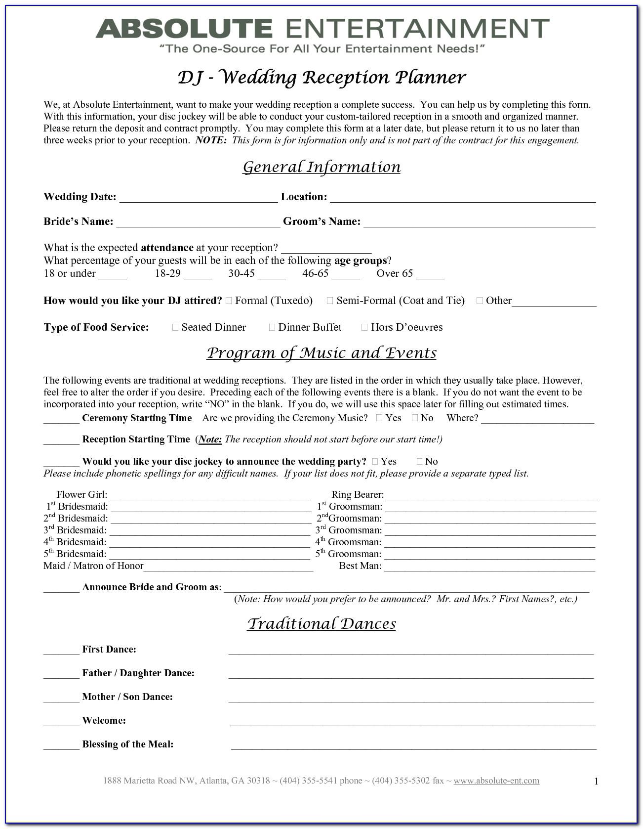 Wedding Planner Contract Templates Free
