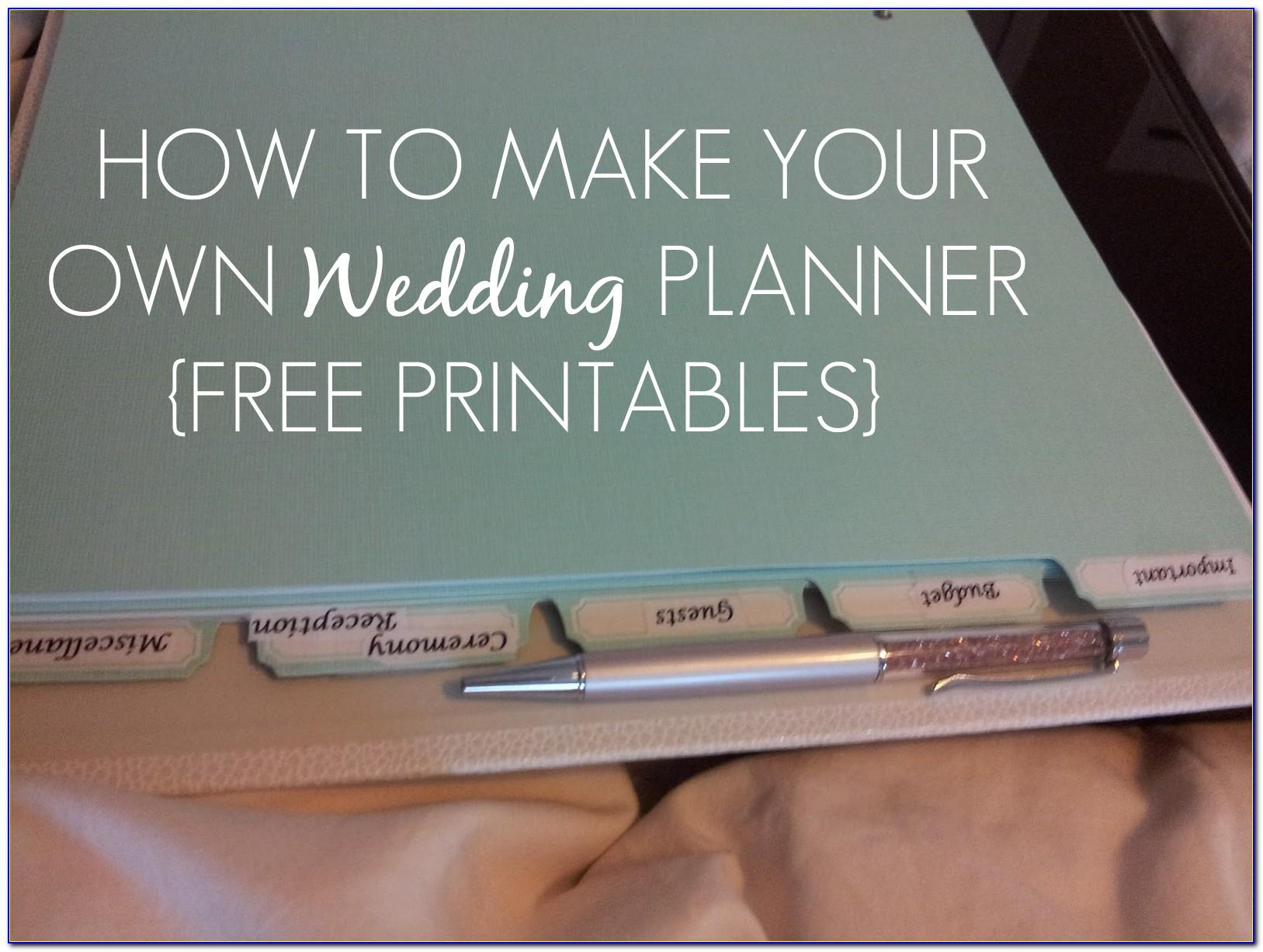 Wedding Planning Binder Free Templates