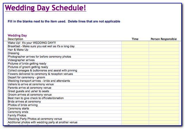 Wedding Planning Timeline Template Excel