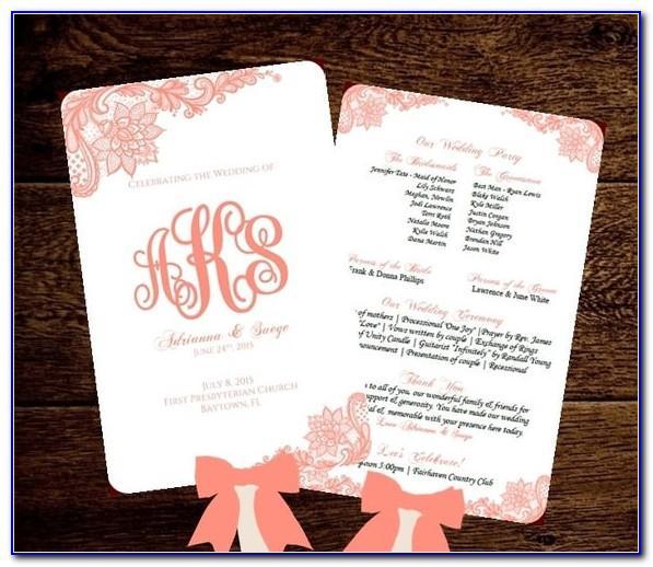 Wedding Program Fan Template Martha Stewart