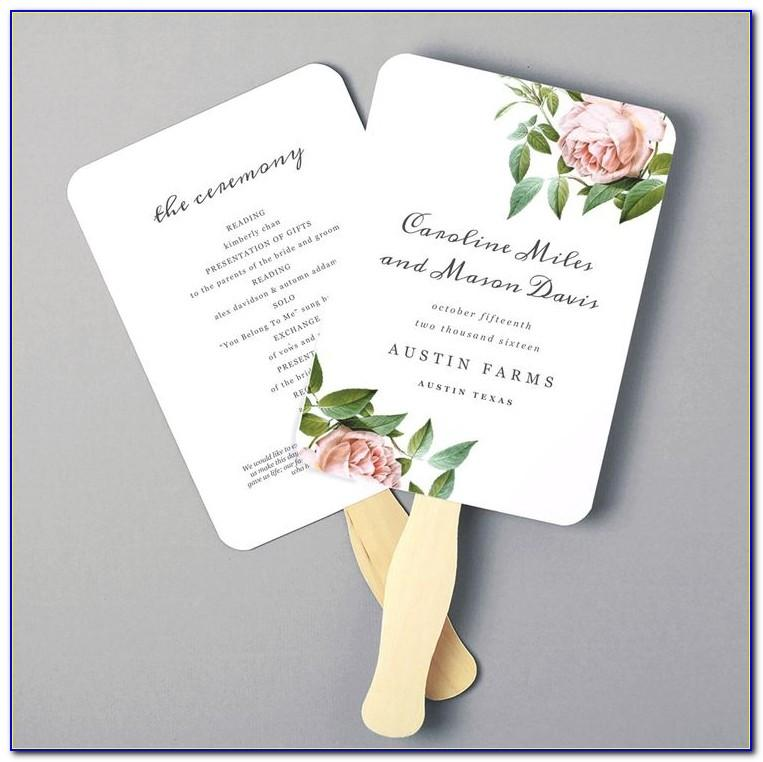 Wedding Program Fan Templates Word