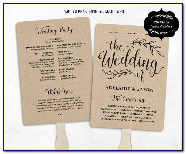 Wedding Program Flip Book Template