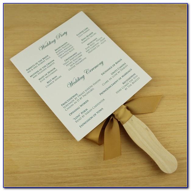 Wedding Program Format Samples