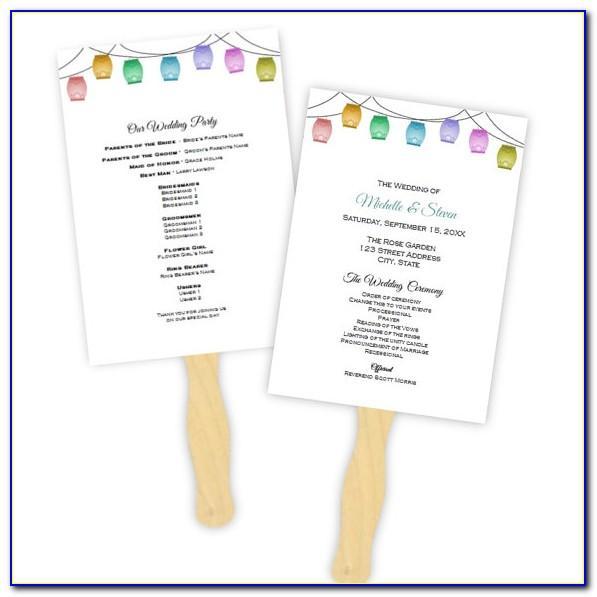 Wedding Program Template Examples