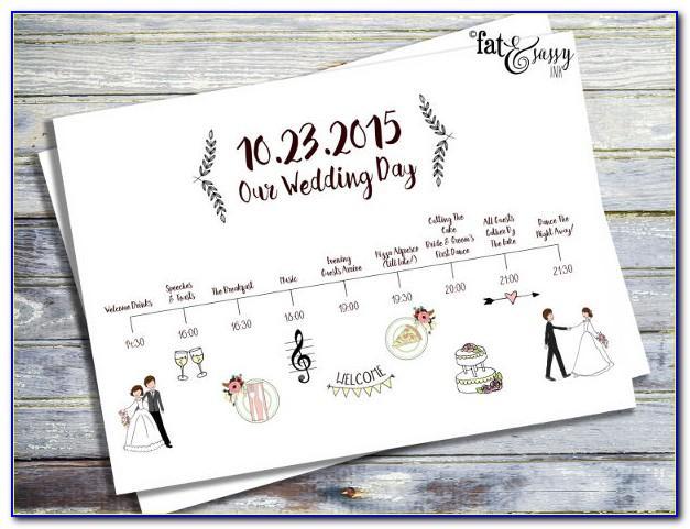 Wedding Program Trifold Template
