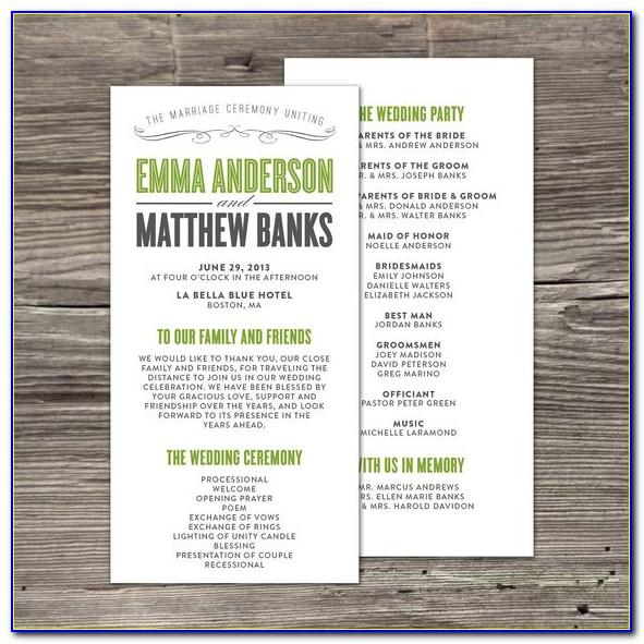 Wedding Programs Fans Templates Free