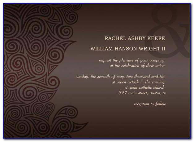 Wedding Reception Card Templates Free