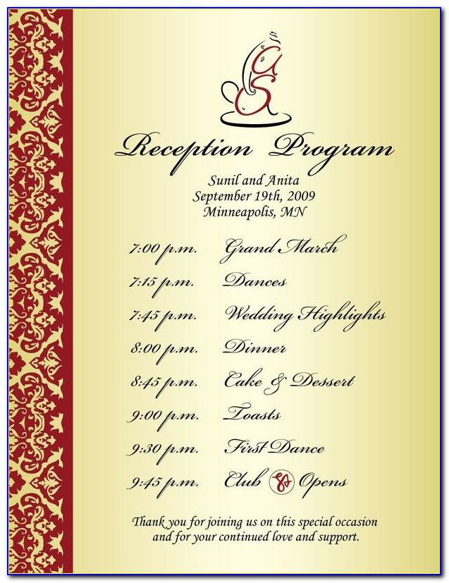 Wedding Reception Contract Sample