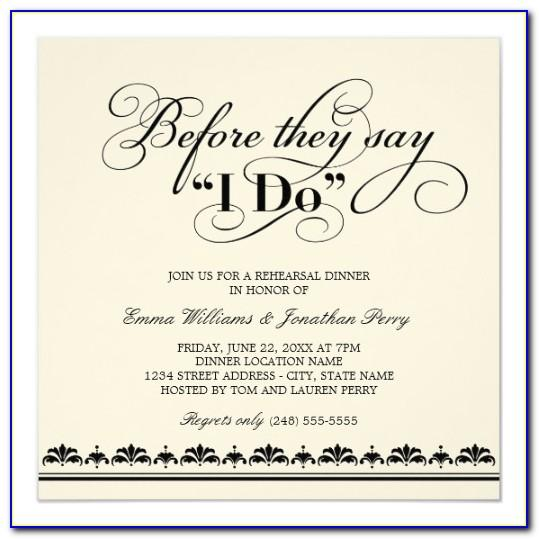 Wedding Reception Invitation Wording Samples From Bride And Groom