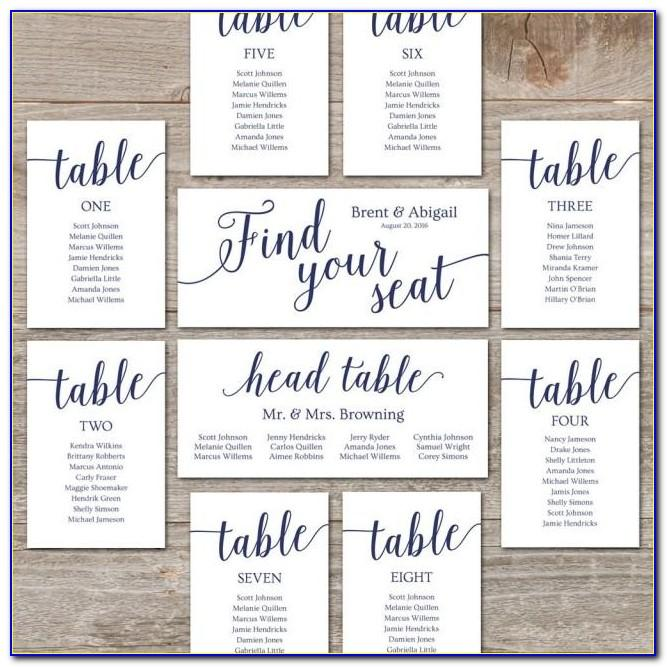 Wedding Reception Seating Chart Diagram Template For Microsoft Powerpoint