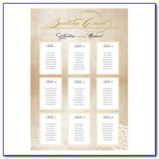 Wedding Reception Seating Chart Maker