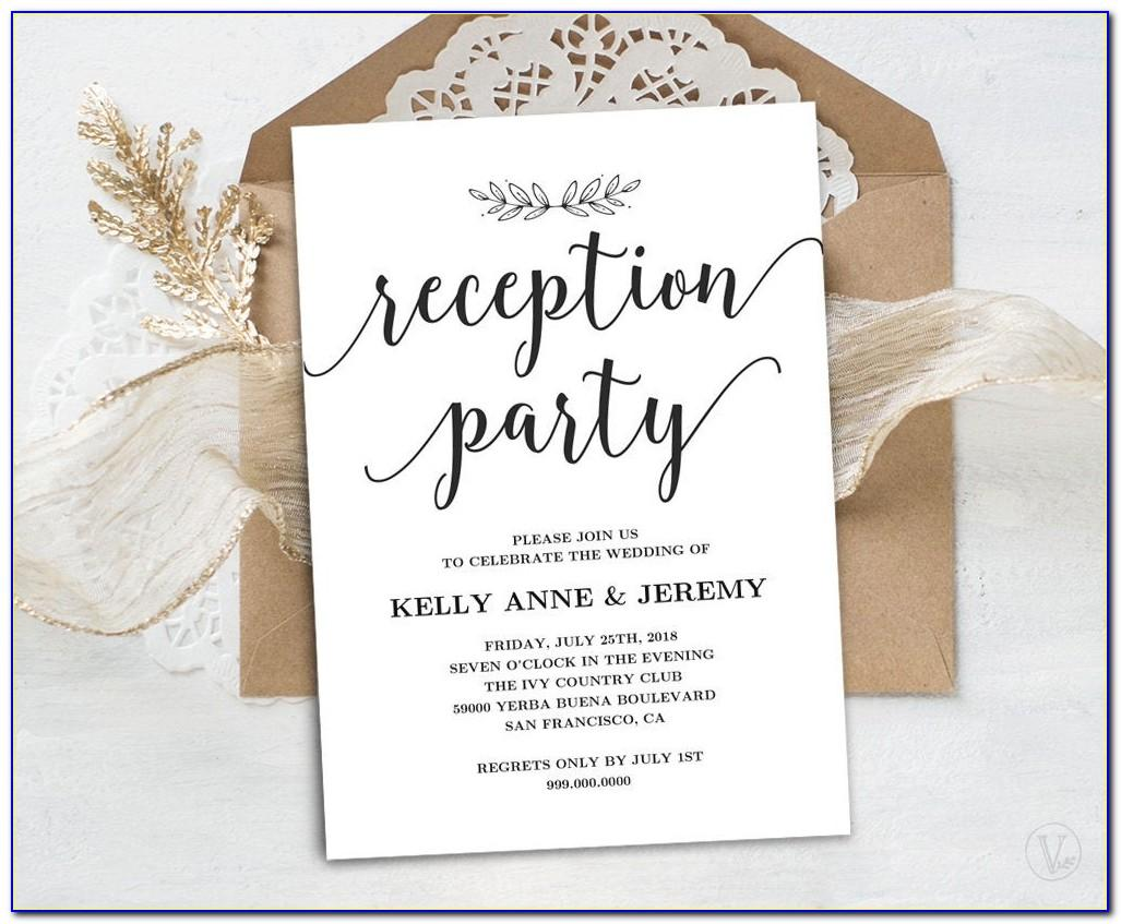 Wedding Reception Templates Free Download