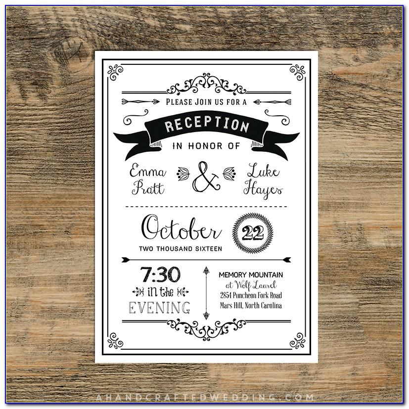Wedding Reception Templates Free