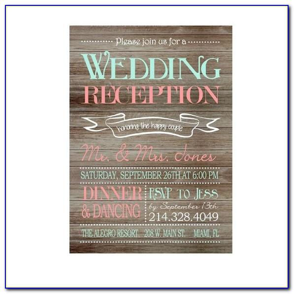 Wedding Rehearsal Dinner Invitation Template Free