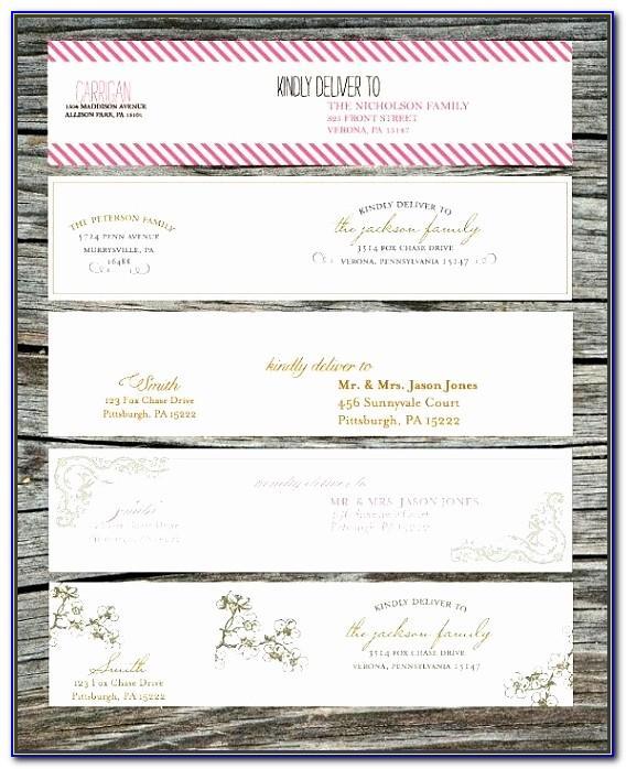 Wedding Return Address Labels Template Free