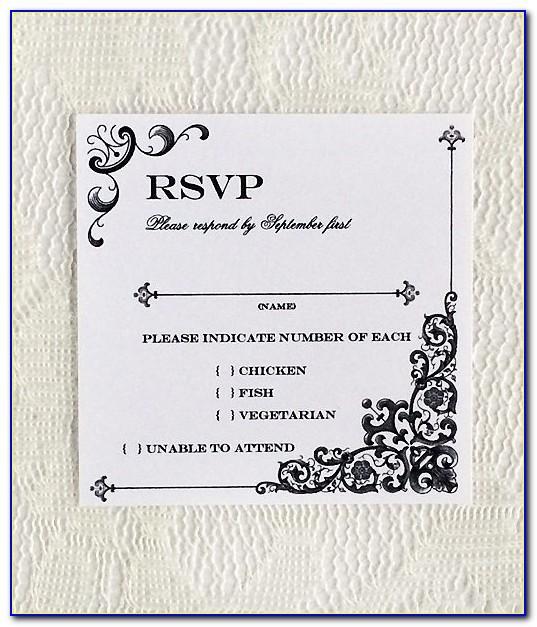Wedding Rsvp Template Download